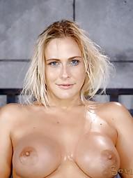 Blowjobs In Brutal Breast Bondage