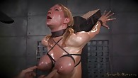 Rain DeGrey throatboarded on top of sybian