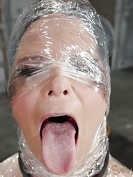 Deepthroat MILF In Plastic Wrap