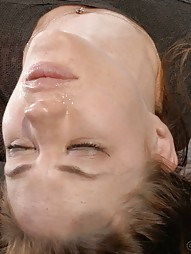 Mummified Redhead Gets Face Fucked