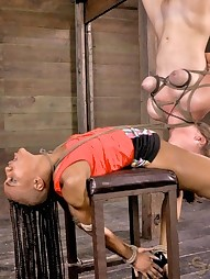 Two girls in brutal bondage