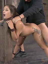 Tiny big-booty hottie is bound