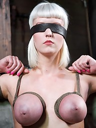 Hot blond destroyed by cock and bondage