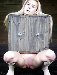 Tiny blonde turned into blowjob box