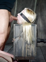 Tiny blonde turned into blowjob box
