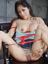 Big breasted Asian destroyed by dick