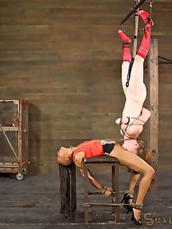 Two girls in brutal bondage, pic #14
