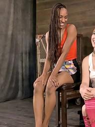 Two girls in brutal bondage, pic #2