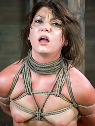 Sexy Mid Western girl Suffers Category 5 bondage, pic #1