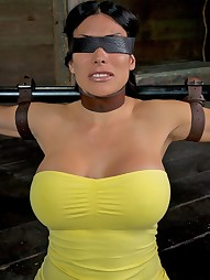 Booming E cup MILF tied up, pic #4
