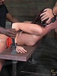 Sexy MILF bound is custom metal bondage, pic #12