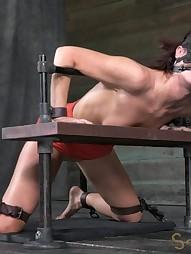 Sexy MILF bound is custom metal bondage, pic #3