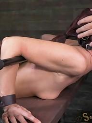 Sexy MILF bound is custom metal bondage, pic #9