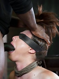 Bound, manhandled, worked over by 2 big dicks, pic #1
