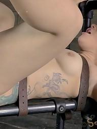 Gabriella suffers extreme deepthroating, pic #8