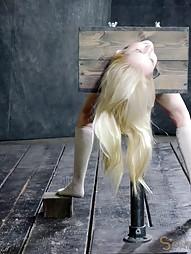 Tiny blonde turned into blowjob box, pic #15