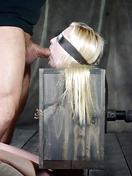 Tiny blonde turned into blowjob box, pic #5