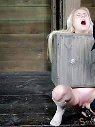 Tiny blonde turned into blowjob box, pic #9