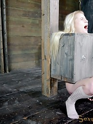 Tiny blonde turned into blowjob box, pic #10