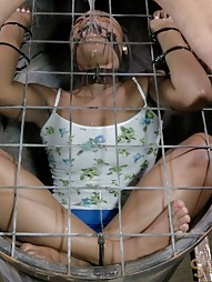 Cocksucker Chanell Heart caged and used, pic #6