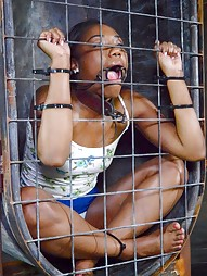 Cocksucker Chanell Heart caged and used, pic #8