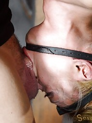 Blonde inverted with auto cocksucking machine, pic #12