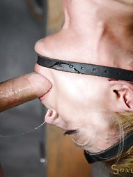 Blonde inverted with auto cocksucking machine, pic #13