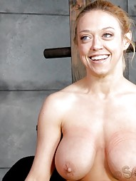 Blonde inverted with auto cocksucking machine, pic #4