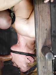 Blonde inverted with auto cocksucking machine, pic #10