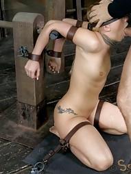 AJ Applegate shackled and blindfolded, pic #11