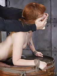 Redheaded bend over a barrel, pic #15