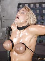 Blowjobs In Brutal Breast Bondage, pic #13