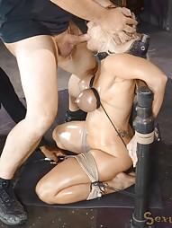 Blowjobs In Brutal Breast Bondage, pic #15