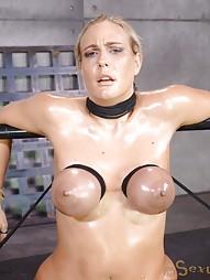 Blowjobs In Brutal Breast Bondage, pic #7