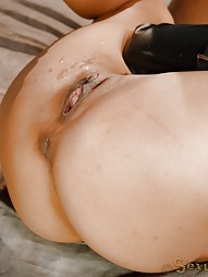 Latina bed bound in leather straightjacket, pic #12