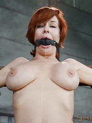 Stunning busty MILF does deepthroat, pic #8