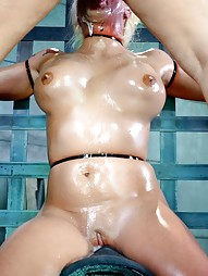 Big titted blonde ziptied onto a sybian, pic #15