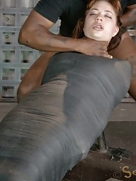 Mummified Redhead Gets Face Fucked, pic #11