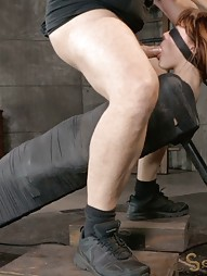 Mummified Redhead Gets Face Fucked, pic #5