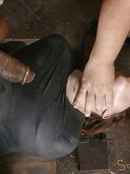 Mummified Redhead Gets Face Fucked, pic #8